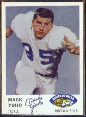 autographed 1961 fleer mack yoho
