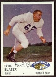 autographed 1961 fleer phil blazer
