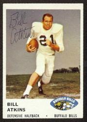 autographed 1961 fleer bill atkins