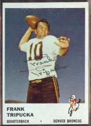 autographed 1961 fleer frank tripucka