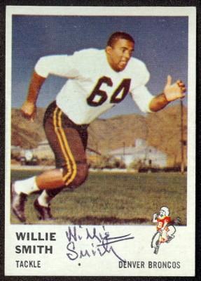 autographed 1961 fleer willie smith
