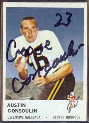 autographed 1961 fleer goose gonsoulin
