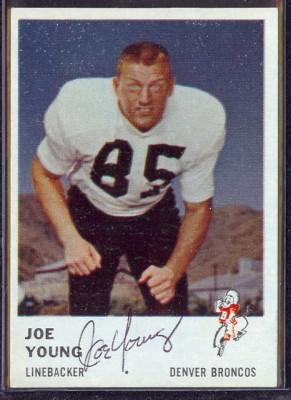 autographed 1961 fleer joe young