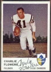 autographed 1961 fleer charlie flowers