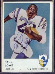 autographed 1961 fleer paul lowe