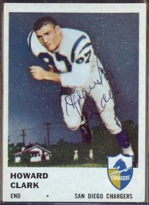 autographed 1961 fleer howard clark