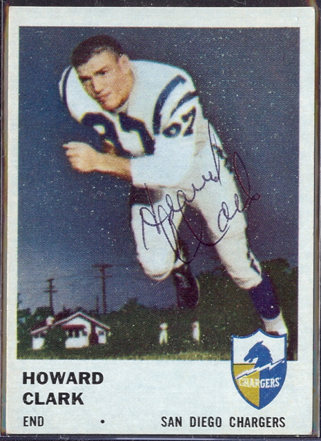 autographed 1961 fleer howard clark
