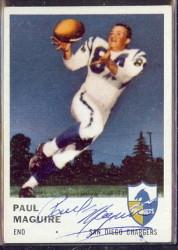 autographed 1961 fleer paul maguire