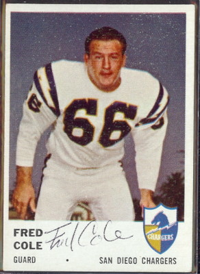 autographed 1961 fleer fred cole