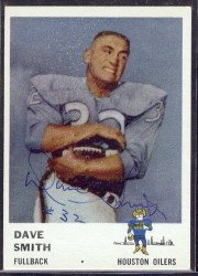 autographed 1961 fleer dave smith