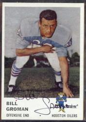 autographed 1961 fleer bill groman