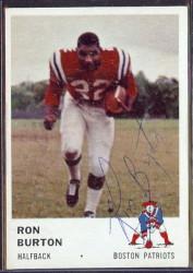 autographed 1961 fleer ron burton