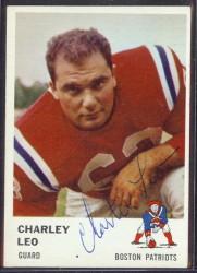 autographed 1961 fleer charley leo