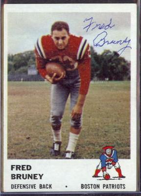autographed 1961 fleer fred bruney