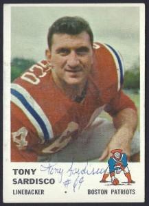 autographed 1961 fleer tony sardisco