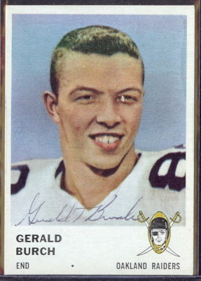 autographed 1961 fleer gerald burch