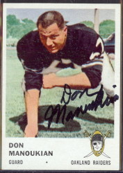 autographed 1961 fleer don manoukian
