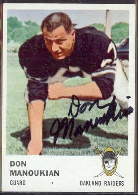autographed 1961 fleer don manoukian