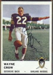 autographed 1961 fleer wayne crow