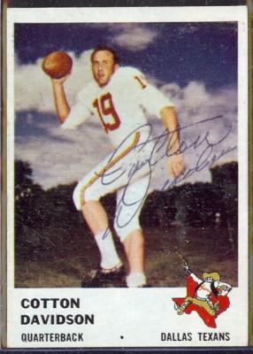 autographed 1961 fleer cotton davidson