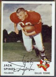 autographed 1961 fleer jack spikes