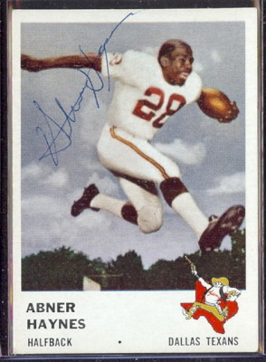 autographed 1961 fleer abner haynes