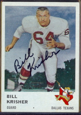 autographed 1961 fleer bill krisher