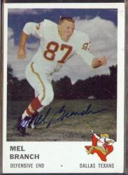 autographed 1961 fleer mel branch