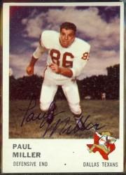 autographed 1961 fleer paul miller