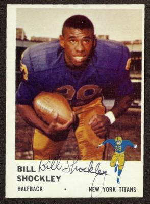 autographed 1961 fleer bill shockley