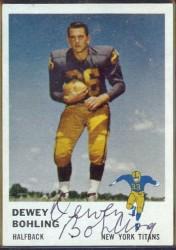 autographed 1961 fleer dewey bohling