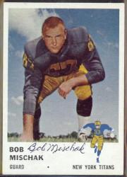 autographed 1961 fleer bob mischak