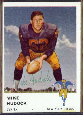 autographed 1961 fleer mike hudock