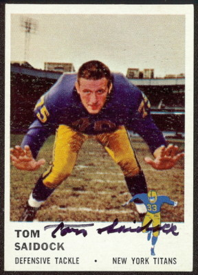 autographed 1961 fleer tom saidock