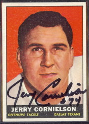 autographed 1961 topps jerry cornelison
