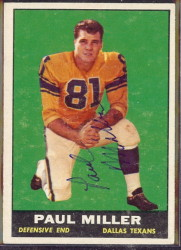 autographed 1961 topps paul miller
