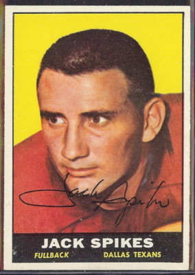 autographed 1961 topps jack spikes