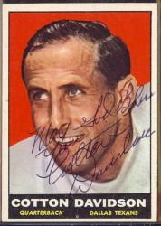 autographed 1961 topps cotton davidson