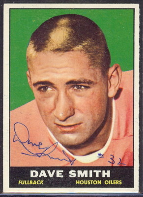 autographed 1961 topps dave smith