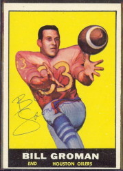 autographed 1961 topps bill groman