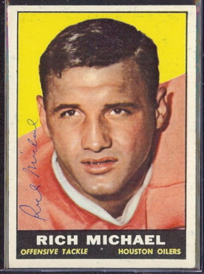 autographed 1961 topps rich michael