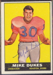 autographed 1961 topps mike dukes