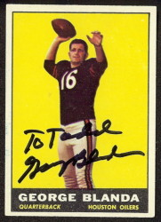 autographed 1961 topps george blanda