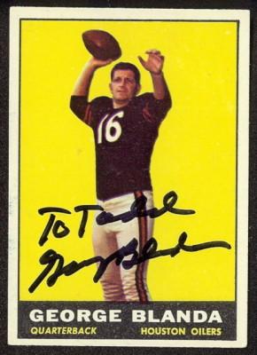 autographed 1961 topps george blanda