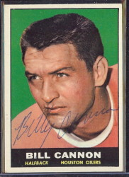 autographed 1961 topps billy cannon