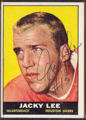 autographed 1961 topps jacky lee