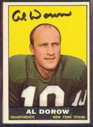 autographed 1961 topps al dorow