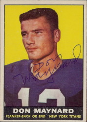 autographed 1961 topps don maynard