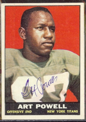 autographed 1961 topps art powell