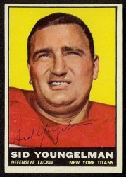 autographed 1961 topps sid youngelman